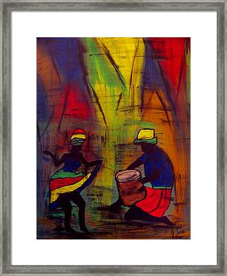 Soca Dancing Framed Print by Glenda  Jones