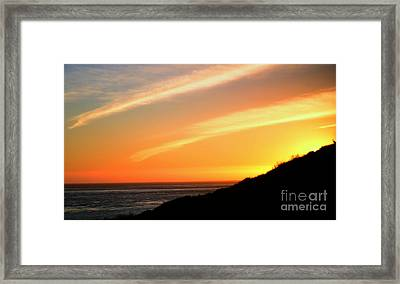 Framed Print featuring the photograph Socal Sunet by Clayton Bruster