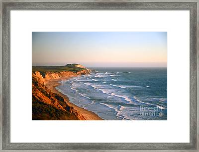 Framed Print featuring the photograph Socal Sunset Ocean Front by Clayton Bruster