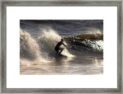 Socal Surfing Framed Print by Clayton Bruster