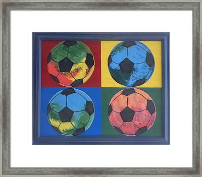 Soccer Balls Framed Print by Ken Pursley
