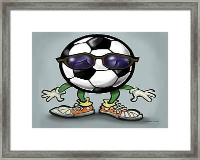 Soccer Cool Framed Print by Kevin Middleton