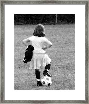 Soccer Fashionista Framed Print by Keith Campagna