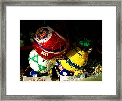 Soccer For Sale Framed Print by Chuck Taylor