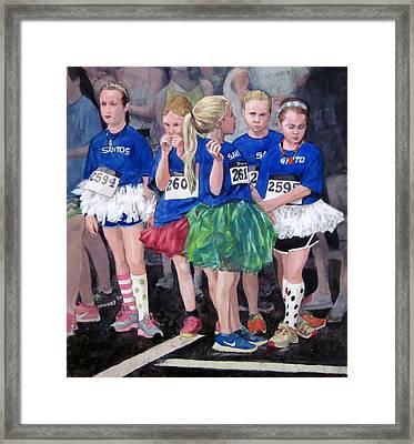 Soccer Girls Framed Print
