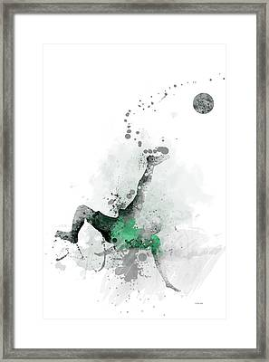 Soccer Player Framed Print by Marlene Watson