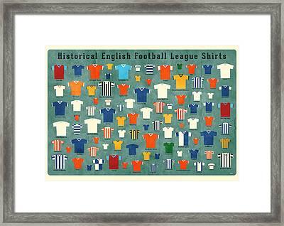 Soccer Shirts Framed Print