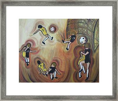 Soccer Framed Print by Suzanne  Marie Leclair