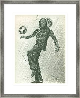 Soccer Time Framed Print