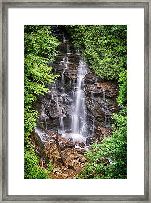 Framed Print featuring the photograph Socco Falls by Stephen Stookey