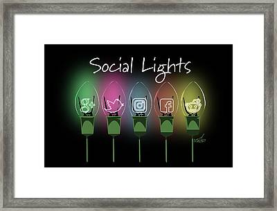Social Lights Framed Print