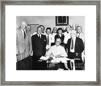 Social Security Act, 1935 Framed Print by Granger