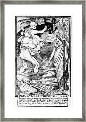 Socialism And The Imperialistic Will O The Wisp Framed Print by Walter Crane