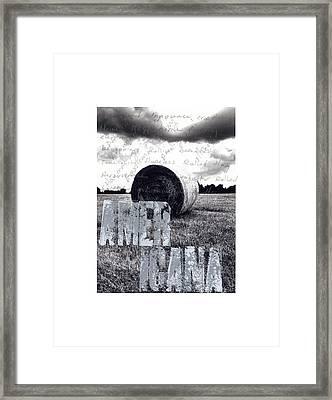 #socialques Americana Framed Print