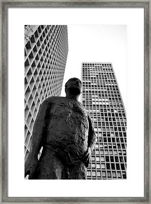 Society Man Framed Print by Andrew Dinh