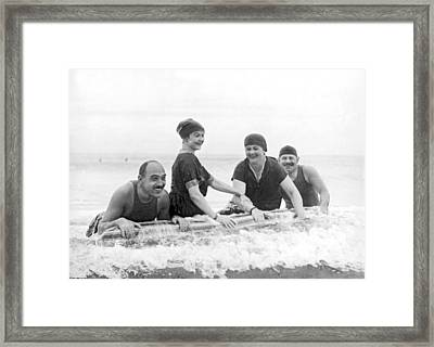 Society Plays In Palm Beach Framed Print by Underwood Archives