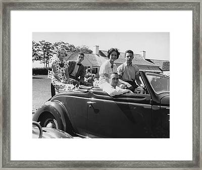 Society Youths In Convertible Framed Print