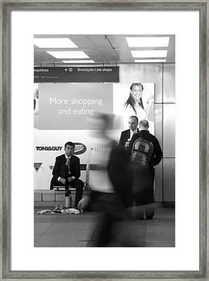 Sock Change Framed Print by Jez C Self