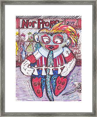 Sock Monkey Says I Taught Her Everything She Knows. Framed Print