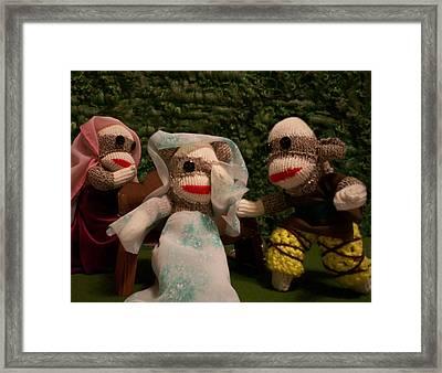 Sock Monkey Twelfth Night Framed Print
