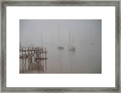 Socked In Framed Print by Peter Williams