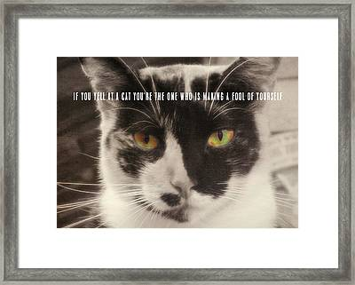 Socks Quote Framed Print by JAMART Photography