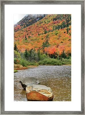Soco Lake Crawford Notch In Autumn Framed Print