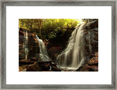 Framed Print featuring the photograph Soco Waterfalls From Spillway by Chris Flees