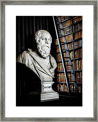 Socrates A Writer Of Knowledge Framed Print