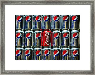 Soda - Coke Vs. Pepsi Framed Print by Paul Ward