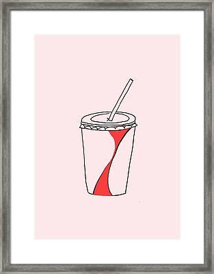 Soda Cup Framed Print