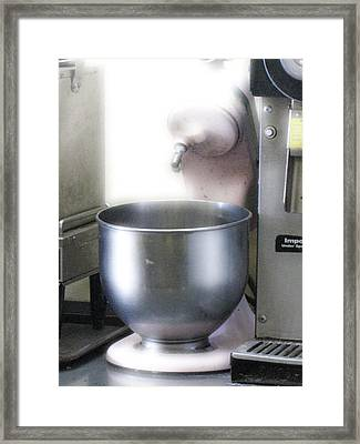 Soda Fountain Blender Framed Print by Donna Thomas