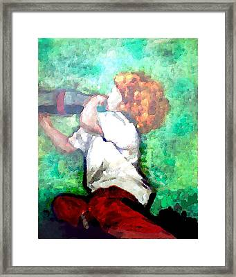 Soda Pop Child Framed Print