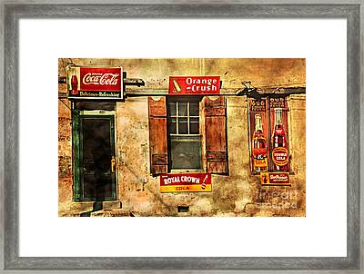 Coca Cola With Other Soda Pop Vintage Tin Signs Framed Print by John Stephens