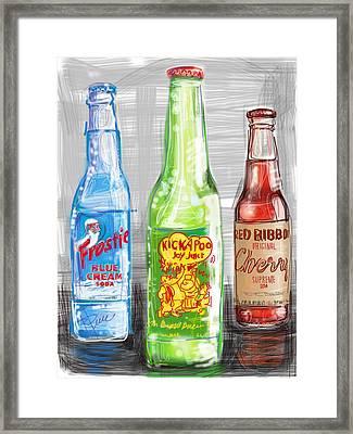 Soda Pops Framed Print by Russell Pierce