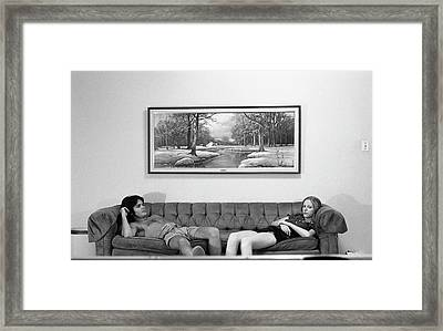 Sofa-sized Picture, With Light Switch, 1973 Framed Print