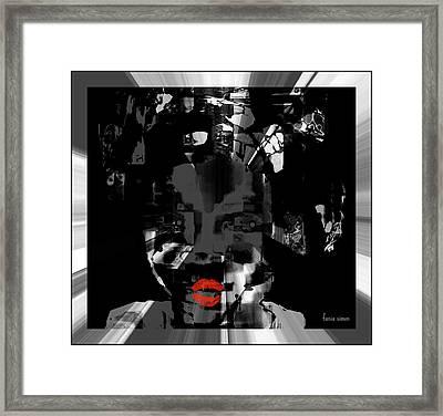 Framed Print featuring the glass art Sofi by Fania Simon