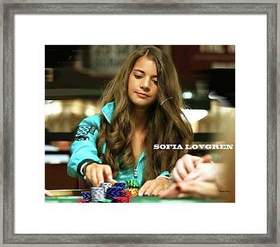 Sofia Lovgren, World Series Of Poker Framed Print