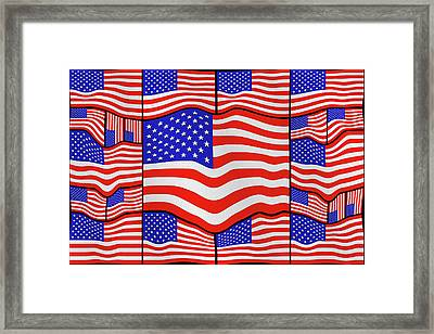 Soft American Flags 3 Framed Print by Mike McGlothlen