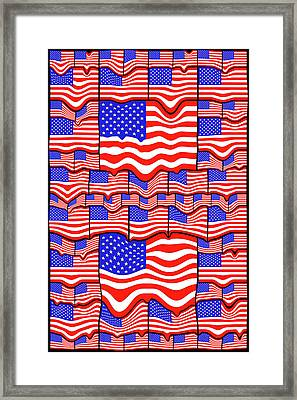 Soft American Flags Framed Print by Mike McGlothlen