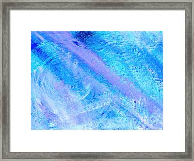 Soft And Dreamy Blues And Lavender Framed Print by Anne-Elizabeth Whiteway