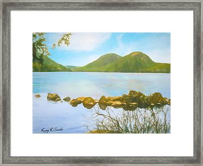 Soft Art Photograph Jordan Pond Acadia Nat. Park Maine Framed Print