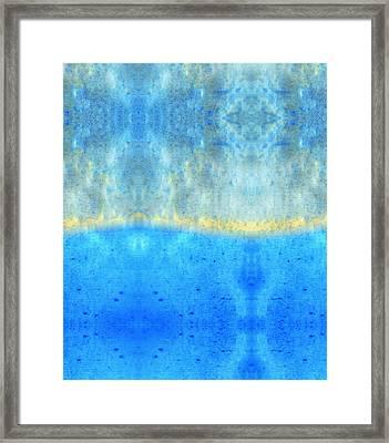 Soft Blue Serenity Art By Sharon Cummings Framed Print by Sharon Cummings