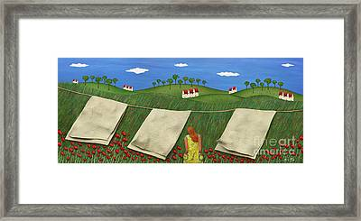 Soft Breeze Framed Print