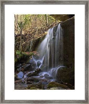 Framed Print featuring the photograph Soft Falls by Alan Raasch