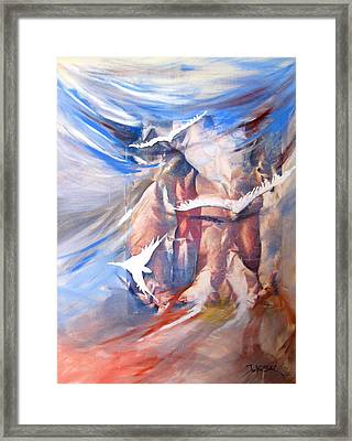 Soft Flight 2 Framed Print