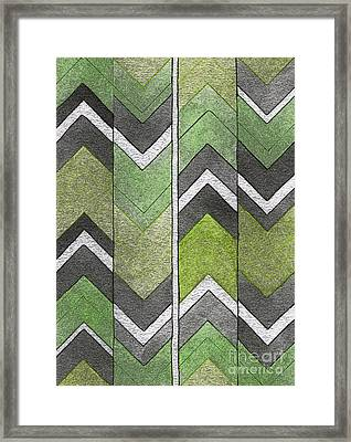 Soft Geometry Framed Print by Norma Appleton
