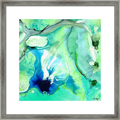 Soft Green Art - Gentle Guidance - Sharon Cummings Framed Print