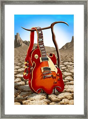 Soft Guitar Framed Print