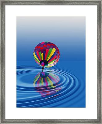Framed Print featuring the photograph Soft Landing by Kathleen Stephens